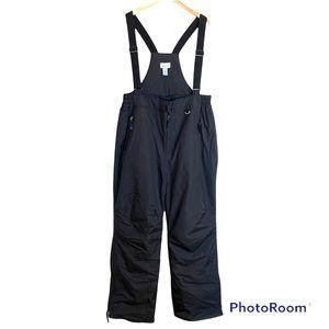 Slalom black bib overall ski snow winter pants
